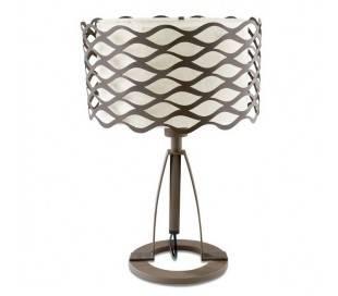 Lampes portable ALSACIA 1 x E27 100W ,1 x E27 23W marron Leds C4