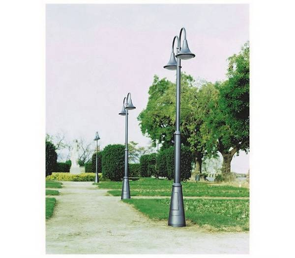 Lampadaire ext rieur 2l pana ip65 led 34w 3600lm 4k anthracite for Luminaire exterieur ip65