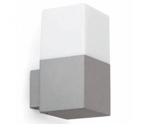 lampe murale en aluminium inject gris fonc ext rieur tarraco. Black Bedroom Furniture Sets. Home Design Ideas