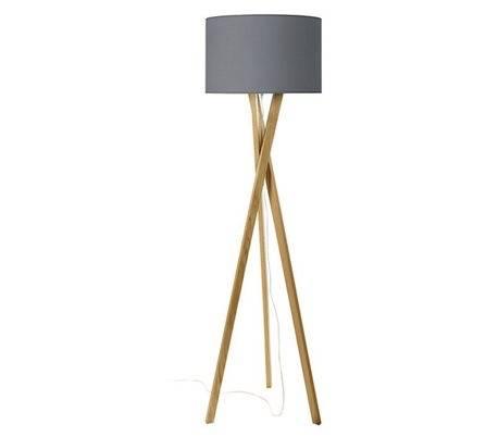 Lampe Lampadaires WOOD E27 bois clair