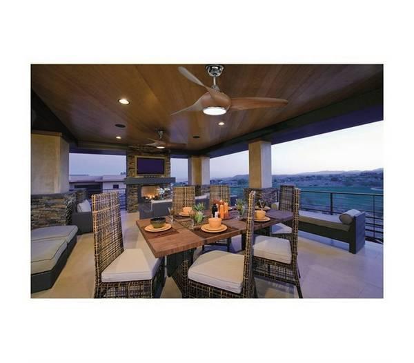 ventilateur de plafond avec la lumi re cefiro led 1x18w 3000k cerezo. Black Bedroom Furniture Sets. Home Design Ideas