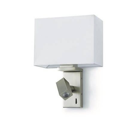 Applique MONNET IP20 E27+LED 3W 160lm nickel givré