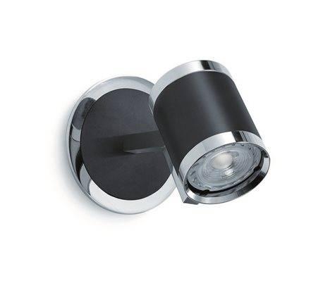 Applique ELKE IP20 GU10 chrome noir