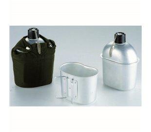 Caja de 6 uds de Cantimplora Aluminio Army 1 Lt. Ibili 720500
