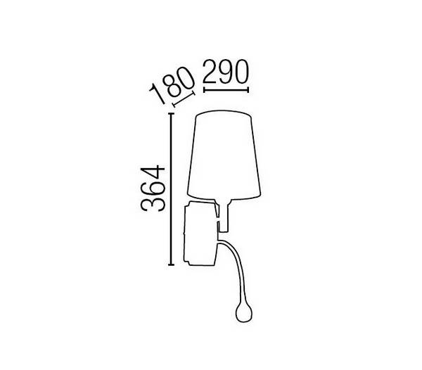 e27 led lampe de lecture applique murale en m tal et de toile blanche kefren. Black Bedroom Furniture Sets. Home Design Ideas