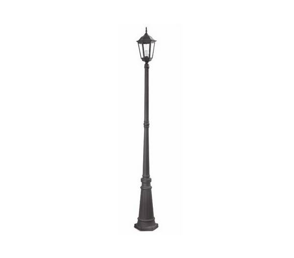 Lampe de jardin 1 lumi re inject en aluminium noir paris for Lumiere de jardin