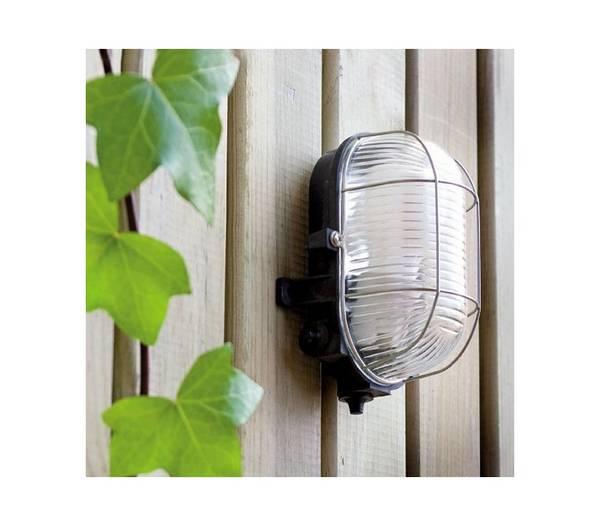 lampe murale pour l 39 ext rieur jardin en pvc gris crypt. Black Bedroom Furniture Sets. Home Design Ideas