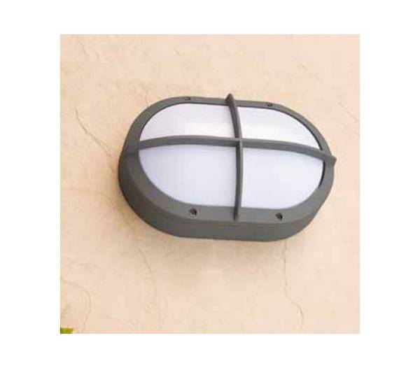 ext rieur applique murale lampe g24 aluminium inject gris fonc ports 1 grosse. Black Bedroom Furniture Sets. Home Design Ideas