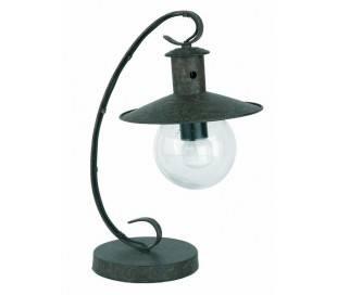 E27 Lampe de table, métal et verre rouille - LISBOA