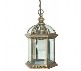 Lampe E27 de jardin suspendu en aluminium de couleur brun - TERUEL