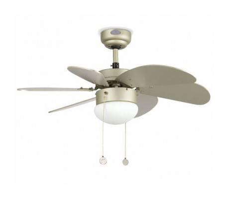 gris avec la lumi re ventilateur de plafond mod le palau. Black Bedroom Furniture Sets. Home Design Ideas