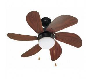 Ventilateur de plafond avec lumière ,brun - PALAO