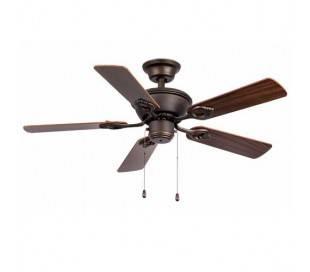Brun foncé avec la lumière ventilateur de plafond modèle Maewo
