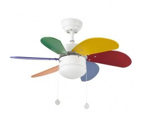 Enfant palaosien multicolor la lumi re du mod le de ventilateur de plafond - Ventilateur plafond enfant ...