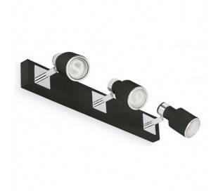 3 Acier BLAT lumières Applique pour l'intérieur et le chrome Negro GU10