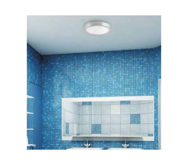 Logos salle de bain plafond en aluminium blanc e27 1 for Logo salle de bain