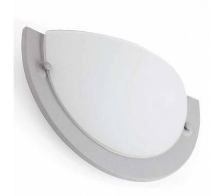Appliquer acier et le verre intérieur VERA-1pour gris E27